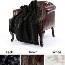 None - Mink Faux Fur 54 x 36 Lap Throw - This mink lap throw is just the right size to toss over your lap on a cold day,and its luxurious lining makes it soft and inviting to the touch. Its faux fur material in three great colors provides the perfect accent to virtually any decor.