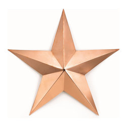 Good Directions - Large Copper Star Wall Decor - Polished - Bring a little bit of heaven to your earthly home with these attractive accents. Radiant solid copper pieces of art in Sun, Moon and Star designs will add warmth and charm to the interior or exterior of any home.