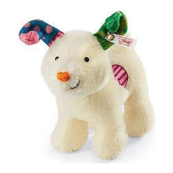 Steiff - Steiff The Snowdog - When a young boy, Billy, moves house, he discovers a secret box hidden under the floorboards. In it are a hat, scarf, some lumps of coal and a shrivelled tangerine - a snowman-making kit! Later that day it snows and Billy builds a Snowman and, with a little spare snow, a Snowdog. That night, at the stroke of midnight, The Snowman and The Snowdog magically come to life and a marvellous adventure ensues. Steiff have captured every ounce of the magic and excitement of the original film, as well as bringing you this heart-warming story of love, loss and friendship into your very arms.