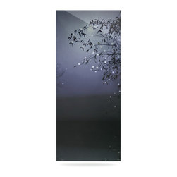 "Kess InHouse - Monika Strigel ""Song of the Nightbird"" Metal Luxe Panel (9"" x 21"") - Our luxe KESS InHouse art panels are the perfect addition to your super fab living room, dining room, bedroom or bathroom. Heck, we have customers that have them in their sunrooms. These items are the art equivalent to flat screens. They offer a bright splash of color in a sleek and elegant way. They are available in square and rectangle sizes. Comes with a shadow mount for an even sleeker finish. By infusing the dyes of the artwork directly onto specially coated metal panels, the artwork is extremely durable and will showcase the exceptional detail. Use them together to make large art installations or showcase them individually. Our KESS InHouse Art Panels will jump off your walls. We can't wait to see what our interior design savvy clients will come up with next."