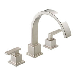 Delta - Delta T2753-SS Vero Roman Tub Trim (Stainless) - The Vero series brings a visionary style and modern feel to your home.