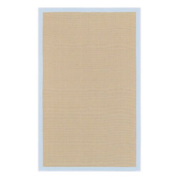 Surya - Surya Natural Fiber Soho Beige-Blue 8'x10' Rectangle Area Rug - The Soho area rug Collection offers an affordable assortment of Natural Fiber stylings. Soho features a blend of natural Beige color. Handmade of 100% Natural Jute the Soho Collection is an intriguing compliment to any decor.