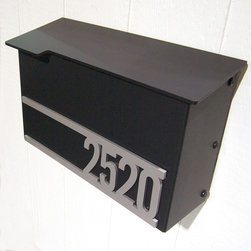 Custom House Number Mailbox No. 1711 - Custom House Number Mailbox No. 1711 in Powder Coated Aluminum