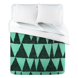 Nick Nelson Analogous Shapes 1 Duvet Cover, Queen