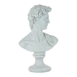 Casa de Arti - Statue of David Bust Ideal Male Classical Michelangelo Reproduction Statue - Beautiful piece to add to your home or office decor at an incredible price.