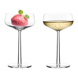 Iittala - Iittala - Essence Cocktail Glass, Set of 2 - The Essence Collection is something that is all at once innovative and simple. It is a few glasses that can serve a wide range of fine wines. The stems and bases are all the same size creating an aesthetic that is balanced and refined when placed side-by-side. The clean, lasting design of the Essence collection is a perfectly balanced blend of timeless beauty and functionality.