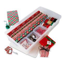 Customized Gift Wrap Center - After making all of your purchases, bring them home to your own organized gift wrap center.