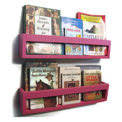 Pretty in Pink Shelves by Happywood Goods - Display the book covers to entice young readers with these book shelves.  Available in a variety of colors.