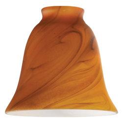 "Westinghouse Lighting - Westinghouse Lighting 2 1/4 Burnt Amber Swirl Bell Lamp Shade (4-Pack) (8136300) - Westinghouse Lighting 8136300 2 1/4"" Burnt Amber Swirl Bell Lamp Shade (4 Pack)"