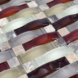 Home Elements - Stone Glass Mosaic Tile, 1 Square Foot - Product Description: