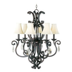 Maxim Lighting - Maxim Lighting 31005CU Richmond 6-Light Chandelier In Colonial Umber - Features