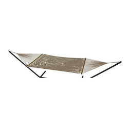 Phat Tommy - Handwoven Hammock in Sandstone - Includes two chains and two tree 0.38 in. steel hooks