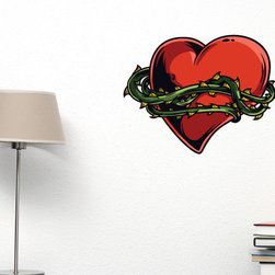 Heart Vinyl Wall Decal HeartUScolor010; 72 in. - Vinyl Wall Decals are an awesome way to bring a room to life!
