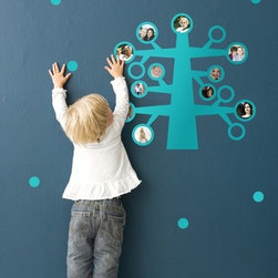 My Family in Turquoise Kids Wall Stickers - Part wall decal and part family tree, this is a great way to add art to the wall that you can easily remove or change.