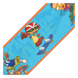 Brewster Home Fashions - Rocket Power - Boys Room - Wall Paper Border - Features: