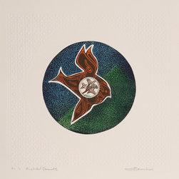 Martin Barooshian, Ring Necked Pheasant, Intaglio Aquatint Etching - Artist:  Martin Barooshian, American (1929 - )