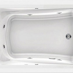 """American Standard - American Standard 3574.018WC.020 Green Tea 5' x 42"""" EverClean Whirlpool,  White - American Standard 3574.018WC.020 Green Tea 5' x 42"""" EverClean Whirlpool,  White. This whirlpool features an acrylic construction with fiberglass reinforcement, a form-fitted neck support, molded-in armrests with elbow supports, dual accessory deck areas, a pre-leveled tub bottom, an EverClean system that inhibits the growth of bacteria, mold, and mildew, a single speed pump with air switch (on/off), 2 silent air volume controls, a quick connect Safe-T-Heater connection system (heater sold separately), and 8 multi-directional flow-adjustable jets, including 2 rotary jets in the lumbar area."""