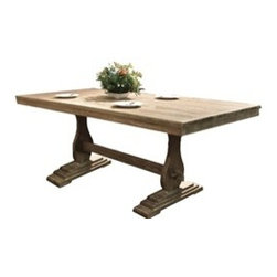 Lyon Wood Dining Table - •Solid Pine