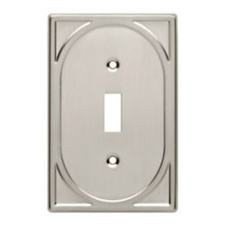 Liberty Hardware - Liberty Hardware 144416 Cambray WP Collection 3.24 Inch Switch Plate - A simple change can make a huge impact on the look and feel of any room. Change out your old wall plates and give any room a brand new feel. Experience the look of a quality Liberty Hardware wall plate. Width - 3.24 Inch, Height - 4.98 Inch, Projection - 0.19 Inch, Finish - Satin Nickel, Weight - 0.2 Lbs.