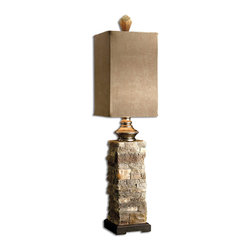 Uttermost - Uttermost 29093-1 Andean Layered Stone Buffet Lamp - Uttermost 29093-1 Andean Layered Stone Buffet Lamp