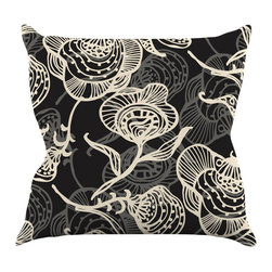 "Kess InHouse - Gill Eggleston ""Future Nouveau Lite"" Black White Throw Pillow (20"" x 20"") - Rest among the art you love. Transform your hang out room into a hip gallery, that's also comfortable. With this pillow you can create an environment that reflects your unique style. It's amazing what a throw pillow can do to complete a room. (Kess InHouse is not responsible for pillow fighting that may occur as the result of creative stimulation)."