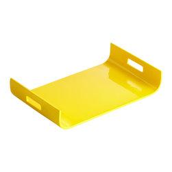Cyan Design - Monroe Tray - Yellow Lacquer - Monroe tray - yellow lacquer