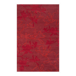 Organic Modern Rug — Magnolia In Red