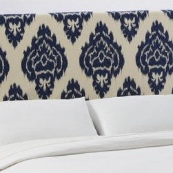 """Skyline Furniture - Slipcover Upholstered Headboard - This beautifully hand-crafted headboard adds style to any bedroom. The slipcover headboard is accented by its minimalist styling and design. With its pine wood frame and thick luxurious foam padding bedtime reading may last a little longer. Features: -Made in the USA.-Included hardware and instructions.-Upholstered in 100% cotton diamonds blue fabric.-Polyfoam padding, upholstered fabric, wood and metal construction.-Slip Cover collection.-Gloss Finish: No.-Frame Material: Pine wood.-Hardware Material: Steel.-Adjustable Height: Yes.-Wall Mounted: Yes.-Reversible: No.-Media Outlet Hole: No.-Built In Outlets: No.-Hardware Finish: Black metal.-Finished Back: No.-Distressed: No.-Hidden Storage: No.-Freestanding: No.-Frame Required: Yes.-Frame Included: No.-Drill Holes for Frame: Yes.-Commercial Use: No.-Recycled Content: No.Specifications: -EPP Compliant: No.-CPSIA or CPSC Compliant: Yes.-CARB Compliant: Yes.-JPMA Certified: No.-ASTM Certified: No.-ISTA 3A Certified: Yes.-PEFC Certified: No.-General Conformity Certificate: Yes.-Green Guard Certified: No.Dimensions: -Overall Height - Top to Bottom (Size: California King): 51"""".-Overall Height - Top to Bottom (Size: Full): 51"""".-Overall Height - Top to Bottom (Size: King): 51"""".-Overall Height - Top to Bottom (Size: Queen): 51"""".-Overall Height - Top to Bottom (Size: Twin): 51"""".-Overall Product Weight (Size: California King): 40 lbs.-Overall Product Weight (Size: Full): 31 lbs.-Overall Product Weight (Size: King): 45 lbs.-Overall Product Weight (Size: Queen): 33 lbs.-Overall Product Weight (Size: Twin): 24 lbs.-Leg Height: 6"""".-Bottom of Headboard to Floor: 24"""".Assembly: -Assembly Required: Yes.-Tools Needed: Allen wrench, wrench.-Additional Parts Required: No.Warranty: -Product Warranty: 1 Year limited (Excludes fabric)."""