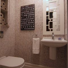 contemporary powder room by Wow Great Place