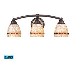 ELK Lighting - ELK Lighting 15012/3-LED Roxana Aged Bronze 3 Light Vanity - ELK Lighting 15012/3-LED Roxana Aged Bronze 3 Light Vanity