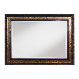 "Framed Goods - Wall Mirror 20X30 - Bronze with Waterdrop Pattern - Mirror Details: 20""x30""x3/16"" Thick - 1"" beveled"