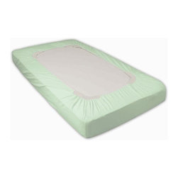 Foundations - Cotton Knit SafeFit Elastic Fitted Crib Sheet in Mint-6pk - Made of 100% cotton knit provides the ultimate in softness, durability, and safety. Design to ensure retention to mattress and durability throughout heavy laundering. 6 to a package and colors. Compact: 24 in. W x 38 in. L x 4 in. H (10 lbs.). Full: 28 in. W x 52 in. L x 6 in. H (10 lbs.)Foundations SafeFit Crib Sheets are designed to maximize safety through superior fitting. Recent studies show that a large number of child safety hazards are created by improper bedding on cribs. Appropriate fit and 100% cotton knit provides the ultimate in softness, durability, and safety.