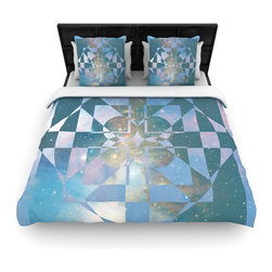 "Kess InHouse - Matt Eklund ""Galactic Hope"" Aqua Blue Fleece Duvet Cover (Queen, 88"" x 88"") - You can curate your bedroom and turn your down comforter, UP! You're about to dream and WAKE in color with this uber stylish focal point of your bedroom with this duvet cover! Crafted at the click of your mouse, this duvet cover is not only personal and inspiring but super soft. Created out of microfiber material that is delectable, our duvets are ultra comfortable and beyond soft. Get up on the right side of the bed, or the left, this duvet cover will look good from every angle."