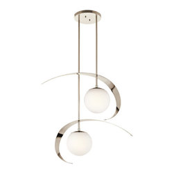 Kichler - Kichler 42037PN Escala 2-Tier Mini Chandelier w/2 Lights - Stem - 14 Inches Wide - Kichler 42037PN Escala Pendant