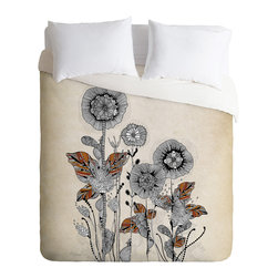 DENY Designs - Iveta Abolina Floral 3 Duvet Cover - Turn your basic, boring down comforter into the super stylish focal point of your bedroom. Our Luxe Duvet is made from a heavy-weight luxurious woven polyester with a 50% cotton/50% polyester cream bottom. It also includes a hidden zipper with interior corner ties to secure your comforter. it's comfy, fade-resistant, and custom printed for each and every customer.