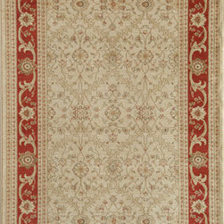 Rugs America - Peshawar Trellis Cream Red Rectangular: 5 Ft. 3 In. x 7 Ft. 10 In. Rug - - Pashawar by Rugs America is an unparalleled collection which rivals the look and sophistication of the finest heirloom hand-made rugs in the world. With an exquisite combination of color?s and a unique texture of twisted yarns, this awe inspiring collection can replace the highest luxury floor covering at a fraction of the price. Machine Woven in Turkey.  - Machine Made 500,000 points, Heat-Set Poly, No Fringe  - Pile Height: 0. 5 Rugs America - 23802