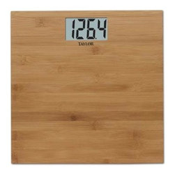 Taylor - Taylor Bamboo Electronic Scale - Taylor Bamboo Electronic Scale with durable lightweight bamboo platform creates a spa feel.