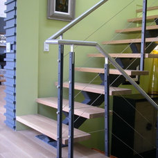 Modern Staircase by Abelow Sherman Architects LLC