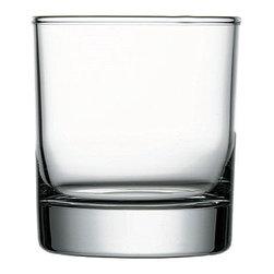 Hospitality Glass - 3.75H x 3.5T x 3.5B Side Heavy Sham 13 oz Double Old Fashioned Glasses 12 Ct - Side Heavy Sham 13 oz Double Old Fashioned