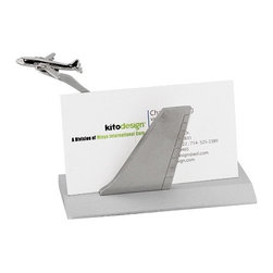 "Kito - 4.5 Inch ""Airborne"" Business Card Holder with Small Plane Figurine - This gorgeous 4.5 Inch ""Airborne"" Business Card Holder with Small Plane Figurine has the finest details and highest quality you will find anywhere! 4.5 Inch ""Airborne"" Business Card Holder with Small Plane Figurine is truly remarkable."