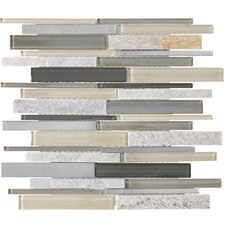 Shop allen + roth 12-in x 14-in Lakeshore Mixed Material Wall Tile at Lowes.com
