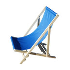 Shark Shade - Wood Frame Napping Chair, Blue - Premium Portable Folding Chairs  provide  a solid comfortable surface to sit and relax.  Shark Shade™  chairs  are designed with innovative materials that lets you go from storage to setup in less than a minute.  Once set up you can relax knowing that you don't have to worry about where you will take a nap.  Shark Shade uses a durable nylon fabric in four colors (Blue, Red, Green, Yellow) with other specialty prints available.  Shark Shade portable folding chairs are the perfect companion for pool side, patio, beach, and camping. extending your adventure or leisure time under the sun and keeping your family safe.