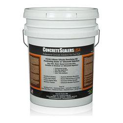 Concrete Sealers USA - PS104 Lithium Silicate Densifying WB Penetrating Sealer w/ Siliconate Repellent - Zero VOC, Water Based Concrete Floor Densifier & Hardener w/ Siliconate Repellent