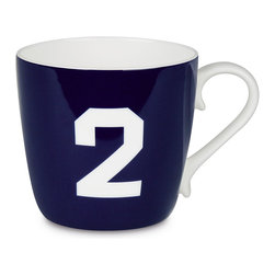 Konitz - Colors Mug Number - Dark Blue - What's your number? Flaunt it on an attractive bone china coffee mug, and you'll get those good luck vibes going with every sip.