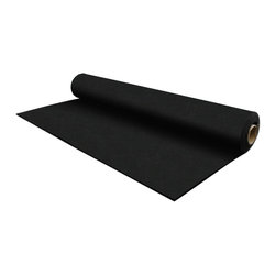 """FlooringInc - FlooringInc 1/4"""" Tough Rubber Rolls, Gym Flooring Mats, 4'x10', Black - Tough mats are our most popular rubber mat solution and our ideal for home gyms, as exercise equipment mats, as semi portable exercise mats, and as general rubber gym mats. These rubber mats can be easily rolled up and stored when necessary as well as used as a more permanent rubber flooring solution by putting the mats together and using some generic double sided carpet tape around the borders to prevent the tough mats from sliding. These exercise mats are also safe to use both indoors and out and can be cut to size to fit your needs with a utility knife and straight edge."""