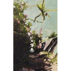 Path To Paradise (Original) by Stacy Vosberg - This expressionistic acrylic painting is of one of the beach paths on my street in Kihei, Maui.