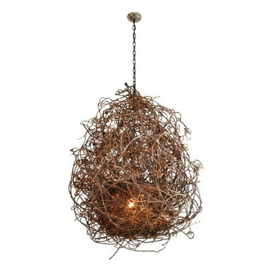 "Eco Friendly Furnture and Lighting - Kiwi Vine ""Nest"" Chandelier"