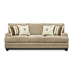 Chelsea Home Furniture - Chelsea Home Warren Sofa Upholstered in Wampum Taupe - Warren Sofa Upholstered in Wampum Taupe belongs to Verona VI collection by Chelsea Home Furniture.