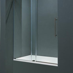 Vigo - VIGO VG6041STCL6066 Tub Door - Make your bathroom an oasis with a VIGO frameless shower door.