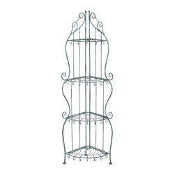 "Benzara - Corner Rack with Conventional or Modern Style - Corner Rack with Conventional or Modern Style. Flaunt your treasured showpieces, frames or vases with this fashionable designed metal rack. It comes with following dimensions: 12"" W x 20"" D x 60"" H."